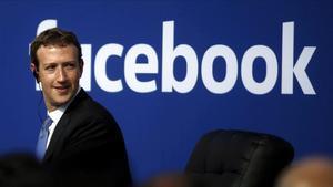 Mark Zuckerberg, CEO de Facebook, en una conferencia.