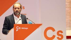El ya exedil de Ciudadanos en el Ayuntamiento de Málaga, Juan Cassá, en un acto del partido.