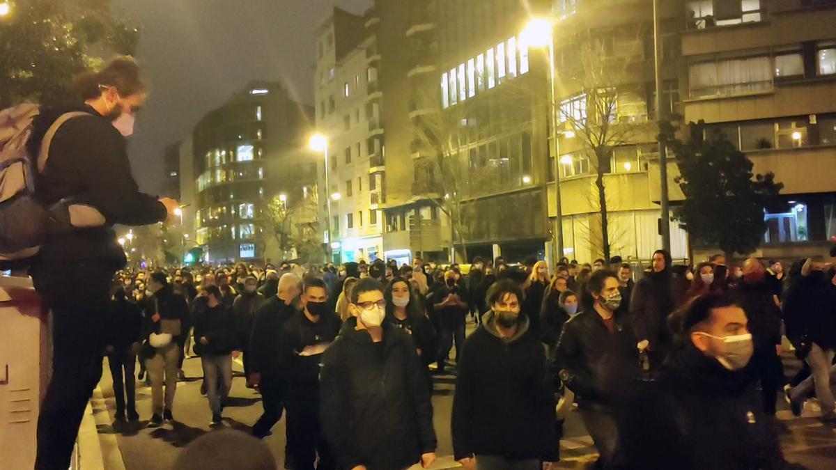 Manifestación  por Pablo Hasél