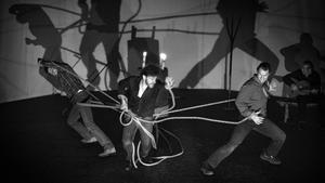 Una escena de 'Quejío', obra emblemática del teatro independiente recuperada 45 años después. Recala en el Poliorama de viernes a domingo.