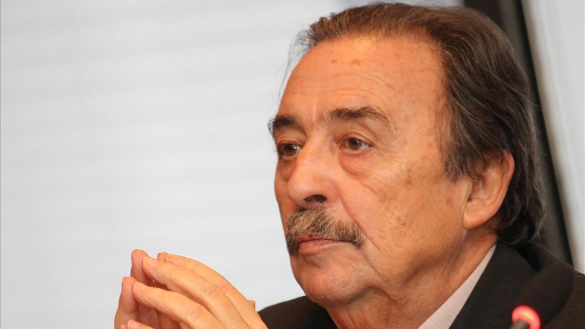 Juan de Dios Román en su etapa como presidente de la Federación Española de Balonmano