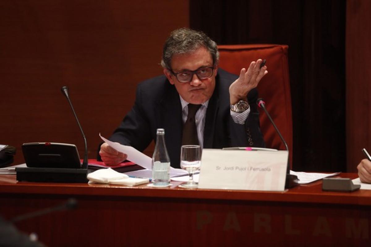 Jordi Pujol Ferrusola, el pasado febrero, durante su declaración en el Parlament.