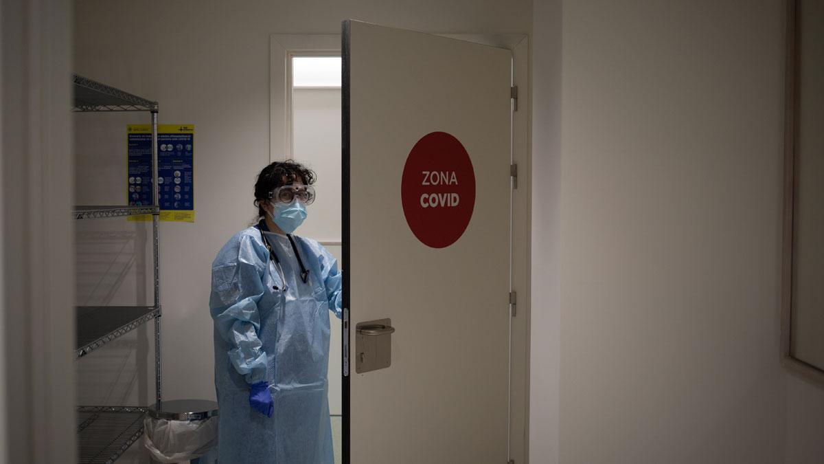 Planta para enfermos con covid en el Hospital Vall d'Hebron de Barcelona.