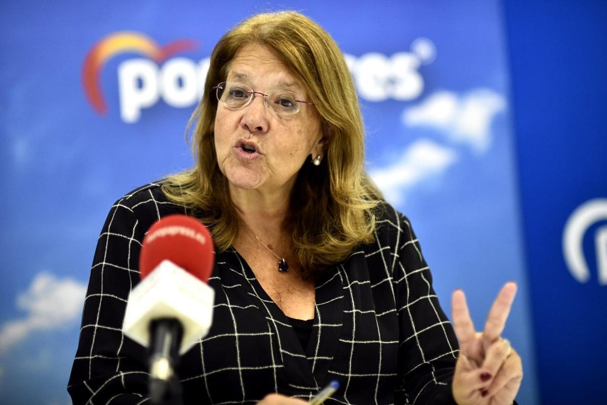 La expresidenta de la CNMV, Elvira Rodríguez, durante una entrevista.