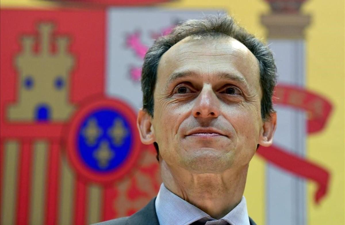 Pedro Duque, durante su toma de posesión como ministro de Ciencia.