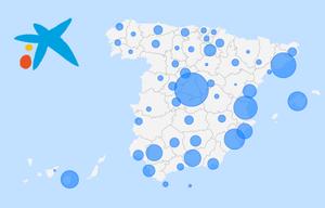 Así queda el ere de CaixaBank: Mapa de los despidos por provincias