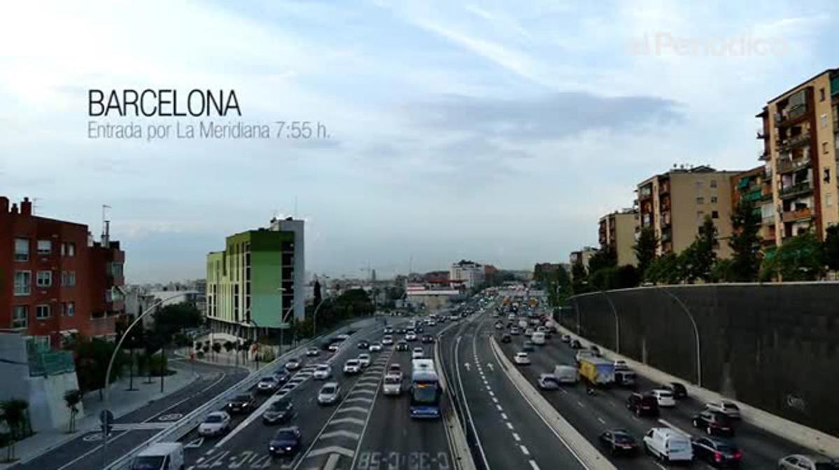 La congestión aumentará un 50% en Barcelona, si no se toman medidas, según el RACC.
