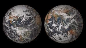 Mosaico de la Tierra con imágenes de Google Earth.