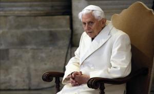 El papa Benedicto XVI, durante una misa, en diciembre del 2015.
