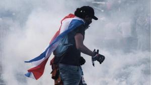 Protestas y enfrentamientos en Costa Rica.