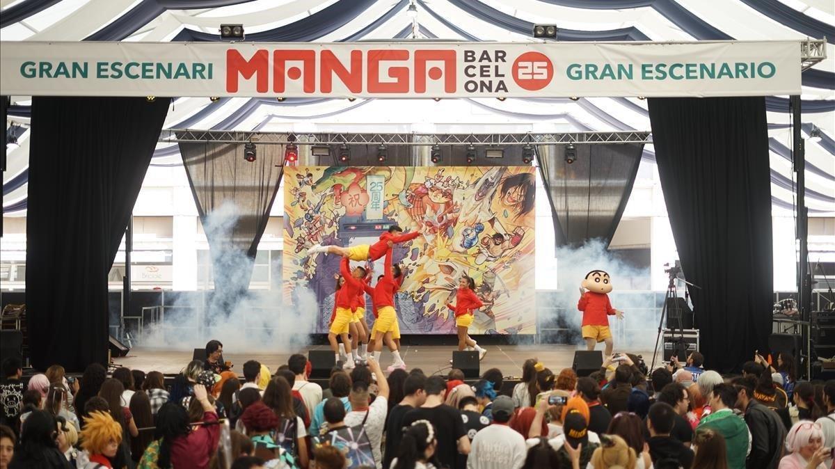 Ambiente en el Manga Barcelona, durante su cita del 2019.