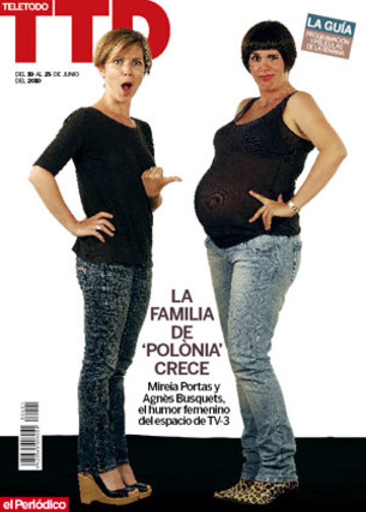Agnès Busquets y Mireia Portas, en la portada del 'Teletodo'.