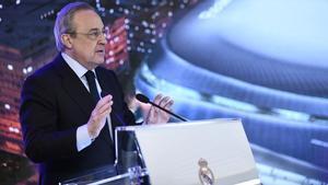 Florentino Pérez, en un acto del Madrid.