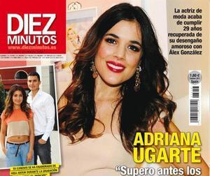Adriana Ugarte en la portada de 'Diez Minutos'.