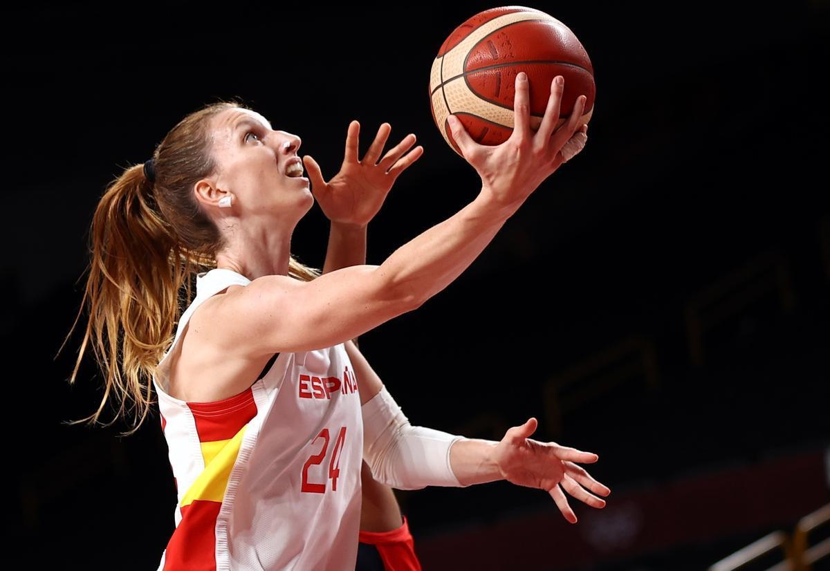 Laura Gil, jugadora de la selección española de baloncesto femenino