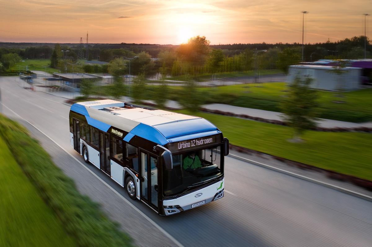 Un modelo de autobús que usa hidrógeno