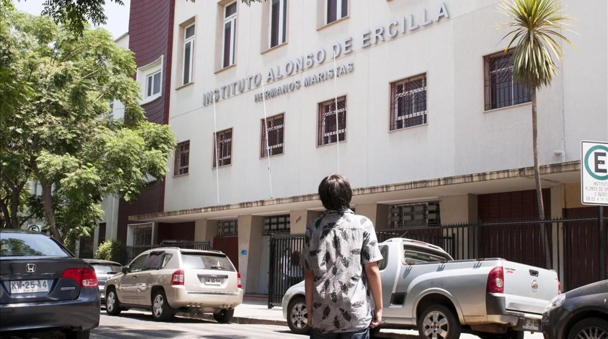 El colegio marista Alonso Ercilla, en Santiago de Chile, en el que numerosos exalumnos han denunciado que sufrieron abusos sexuales.