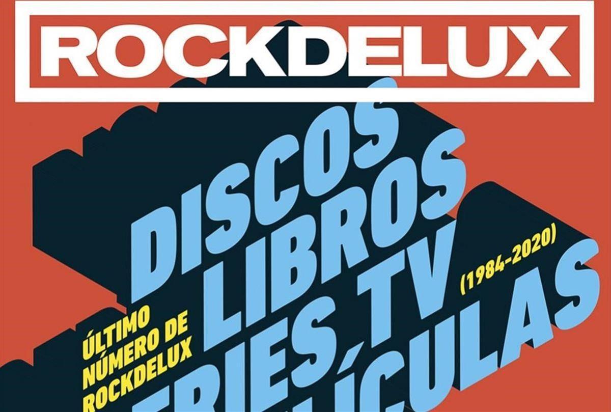 Fragmento de la portada del último número en papel de 'Rockdelux'.