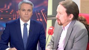 Vicente Vallés y Pablo Iglesias.