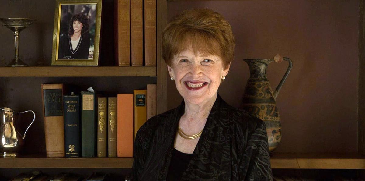 La historiadora Riane Eisler.