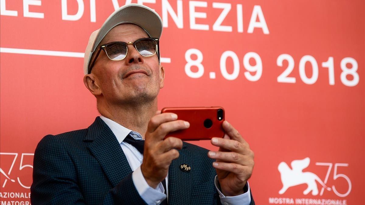 Jacques Audiard, en el Festival de Venecia presentando su última película, 'The Sisters Brothers'.