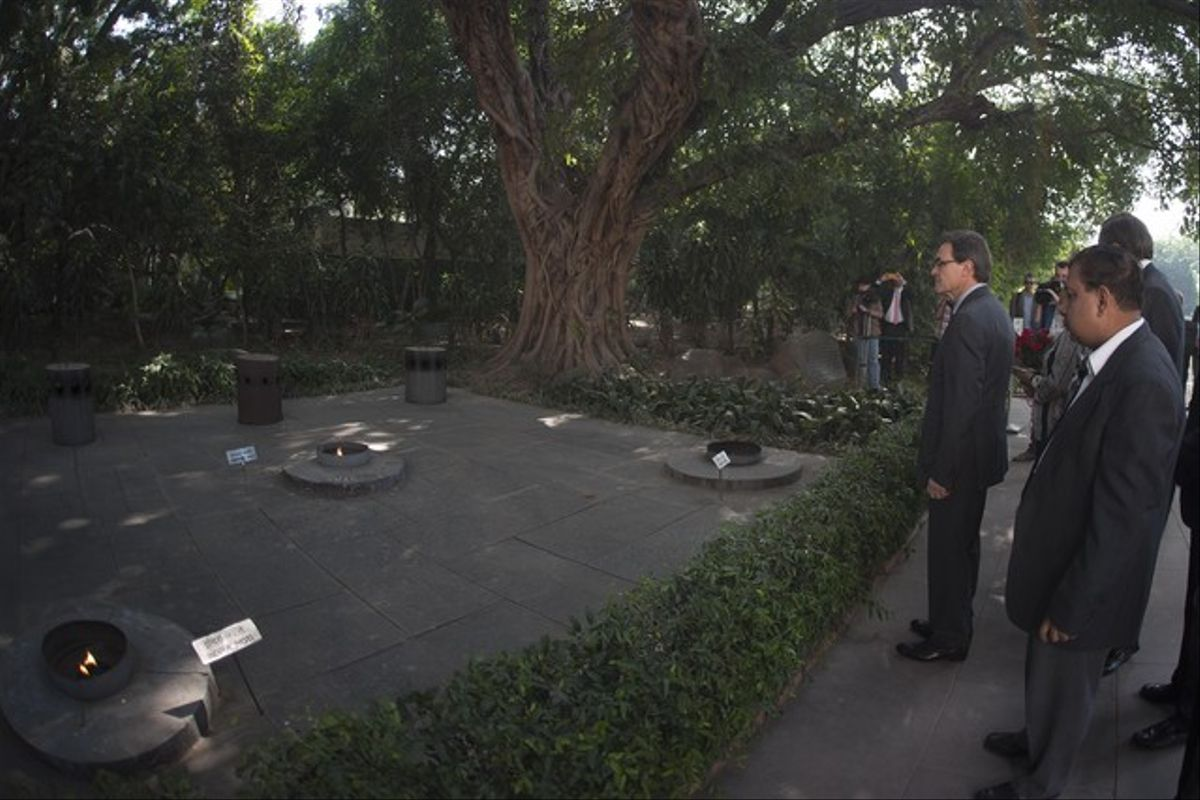 Visita del 'president' de la Generalitat, Artur Mas, en el Nehru Museum, India.
