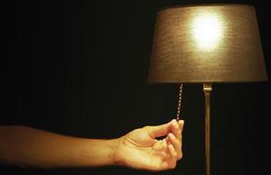 Una lámpara doméstica.