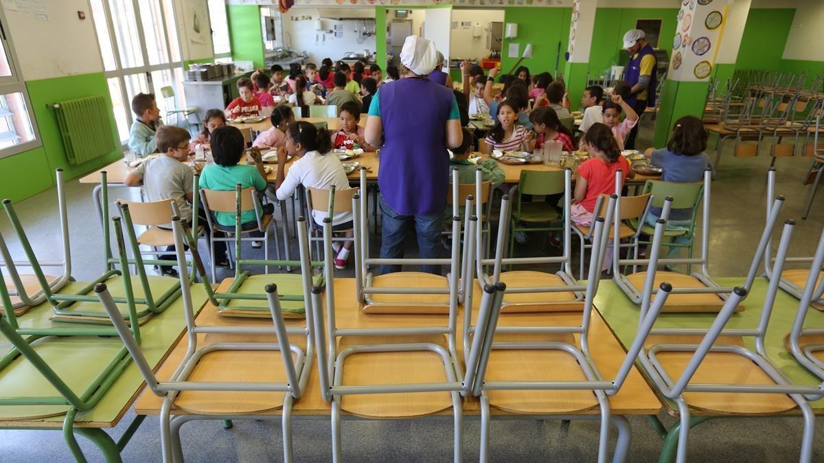 Comedor de la escuela Antaviana, en Nou Barris.