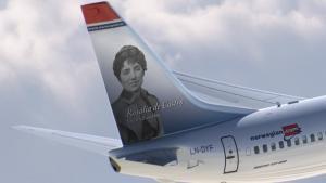 Rosalía de Castro, la última heroína del ala de cola en incorporarse a la flota de Norwegian.