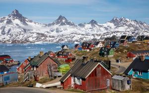 Vista de una ciudad de Groenlandia.