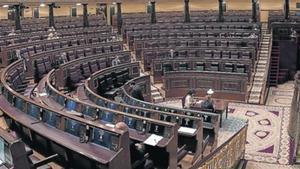 SEMIVACÍO El hemiciclo del Congreso, en un pleno del pasado mayo.