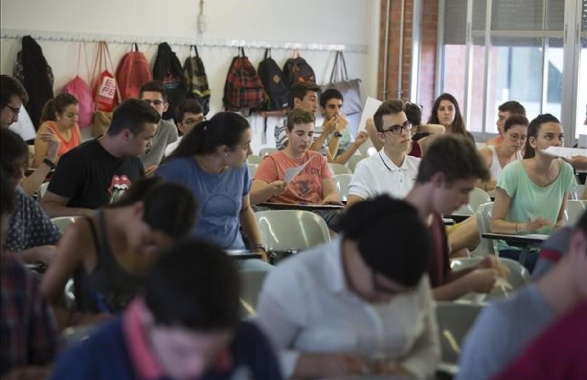 Pruebas de acceso a la universidad en la Universitat Politècnica de Catalunya (UPC).