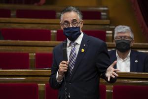 Ramon Tremosa durante un pleno en el Parlament,en septiembre