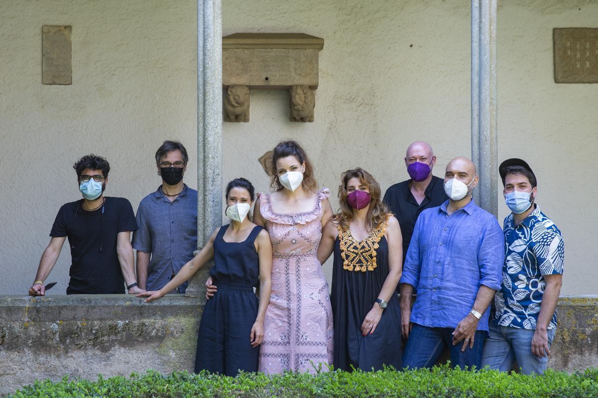 Los artistas de 'Orlando', tras la presentación a la prensa.