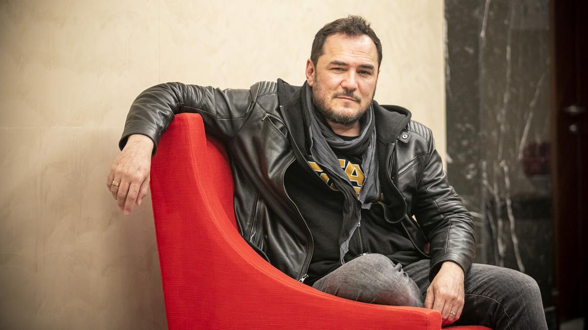 Ismael Serrano, en un hotel de Barcelona, la pasada primavera.