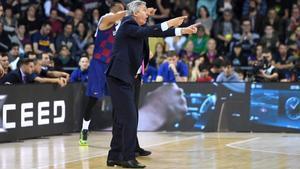 Pesic, en el clásico navideño contra el Madrid en el Palau.