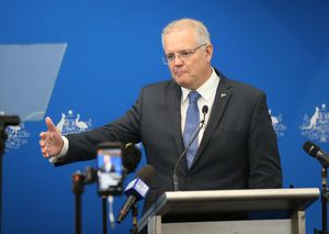 MELB. Melbourne (Australia), 24/02/2019.- Australian Prime Minister Scott Morrison announces the government's climate package at a function in Melbourne, Australia, 25 February 2019. Scott Morrison announced that the government is allocating funds of 2 billion Australian dollars (around 1.4 billion US dollars) towards improving Australia's emissions in the Climate Solutions Fund, an extension of the Emissions Reduction Fund that was implemented by former prime minister Tony Abbott. EFE/EPA/DAVID CROSLING AUSTRALIA AND NEW ZEALAND OUT