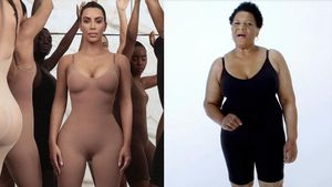 Kim Kardashian y su nueva modelo, la expresidaria Alice Marie Johnson, lucen las prendas reductoras de la firma de la 'influencer'.