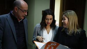 'Felisuco' con Inés Arrimadas y Marta Rivera, en el 2016.