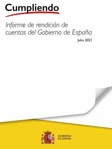 Informe 'Cumpliendo' de rendición de cuentas del Gobierno de España (a 29 de julio de 2021)