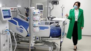 Isabel Díaz Ayuso, en la inauguración del Hospital Isabel Zendal de Madrid, el pasado 1 de diciembre.