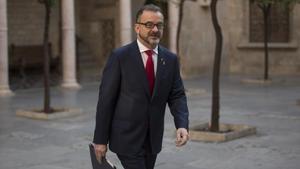 El conseller de Acció Exterior, Alfred Bosch en el Palau de la Generalitat