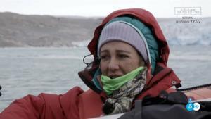 Ana Botín con Calleja, en Groenlandia.