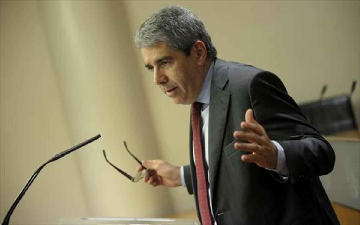 El portavoz de Democràcia i Llibertat en el Congreso, Francesc Homs.