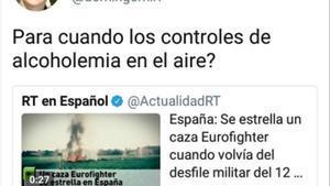 ERC suspèn un càrrec que va ironitzar amb l'accident de l'Eurofighter