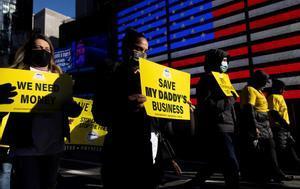 Imagen de archivo de una protesta contra medidas anticovid en Estados Unidos.