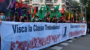 El sindicalisme alternatiu congrega 700 persones a BCN per al Primer de Maig