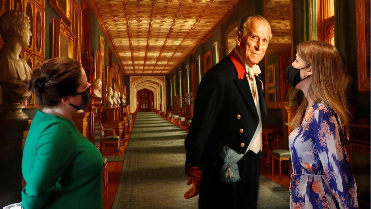 El castillo de Windsor acoge la exposición en honor al príncipe Felipe de Edimburgo.