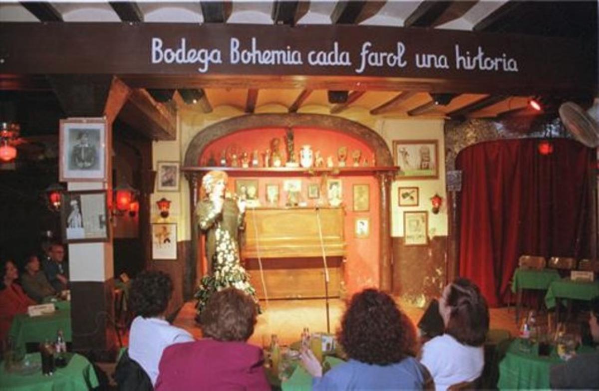 La Bodega Bohemia, pocos días antes de su cierre, en febrero de 1998.