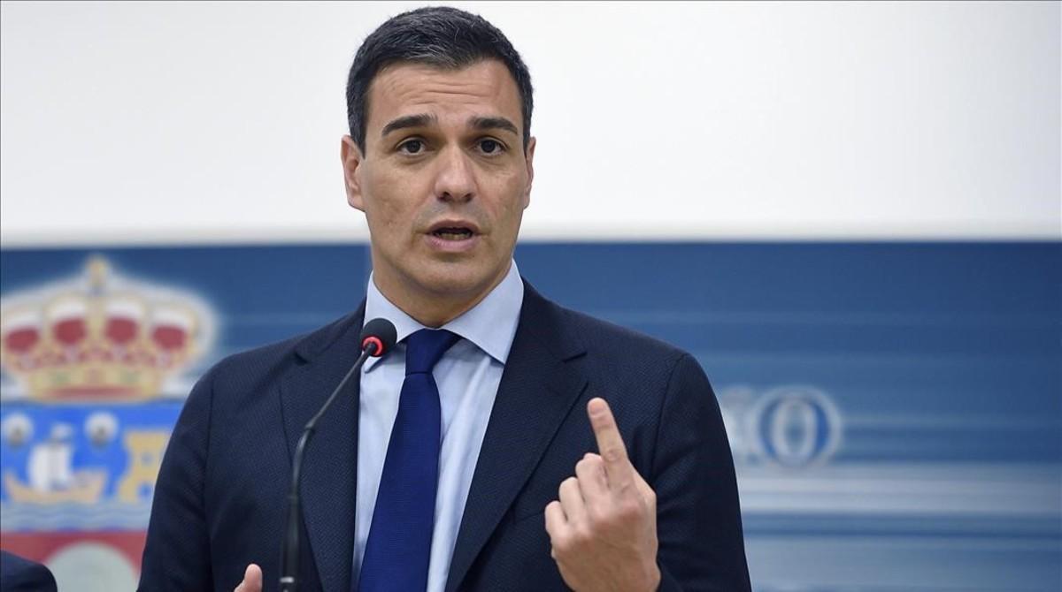 Pedro Sánchez, el pasado miércoles en Santander.